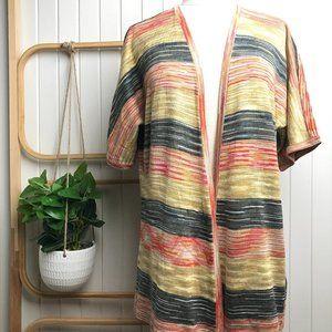 Katies Woman's Multicoloured Short Sleeve Cardigan